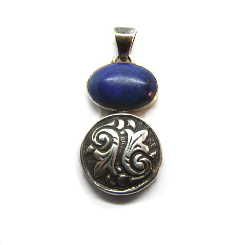 Vintage,Lapis,and,Sterling,gemstone,pendant,925,Silver,Charm,focal,element,Jewelry,Necklace,925_sterling,charm,Sterling_jewelry,Charm_pendant,Quality_Stone,Genuine_gemstone,Epsteam,Blue_semi_precious,opaque_stone,opaque_gemstone,Lapis_lazuli_Pendant,Vintage_Lapis_charm,silvermoongalleria,925 sterling silver,Lapis Lazuli Vintage