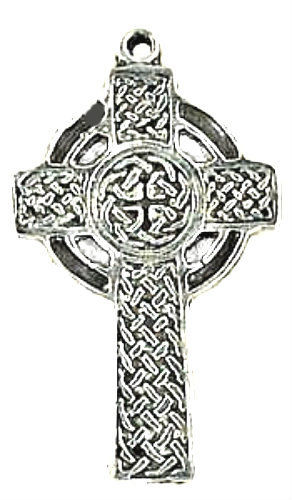 Celtic Knot work Gothic Cross Pendant Ancient Amulet - product images