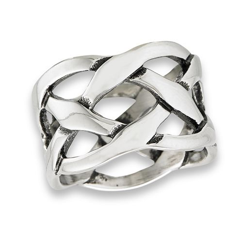 Celtic Weave Ring cast in antiqued Stainless Steel - product images