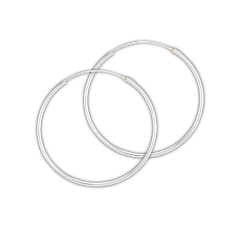 Sterling,Silver,Endless,Hoop,Continuous,Earrings,width,1.5,mm,x,40mm,Gypsy,Bohemian,Sterling Silver Hoops, 925 Sterling, Hoop Earrings, Large Sterling Hoops, Tube Endless Hoop Earrings, Retro, Boho Earrings, Bohemian hoops, Gypsy Earrings, 1.2 mm thick tube  X 45 mm round