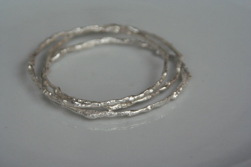 Fused Silver Bangles - product images  of