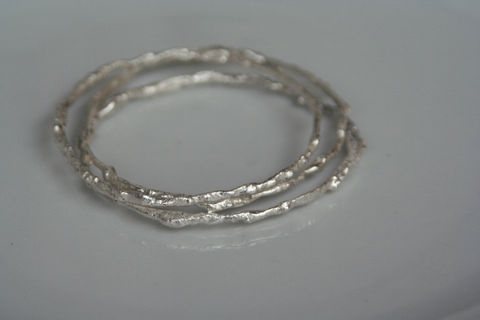 Fused,Silver,Bangles,Jewelry,Bracelet,Bangle,beatriz_fortes,contemporary_jewelry,eco_friendly,aspiringmetalsteam,The_Artisan_Group,fused_silver_bangle,sterling_silver,stacking_bangles,textured_silver,thin_silver_bangle,slim_silver_bangle,organic_bracelet,melted_silver_bangle