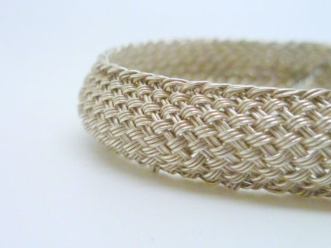 Domed,Woven,Silver,Cuff,Jewelry,Bracelet,beatriz_fortes,contemporary_jewelry,woven_silver_cuff,domed_silver_cuff,hand_woven_silver,woven_silver_jewelry,woven_bracelet,hand_made_jewelry,sterling_silver_cuff,flexible_silver_cuff,silver_bracelet,woven_jewelry,every_day_cuff,ar