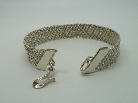 Woven Silver Bracelet - product images  of