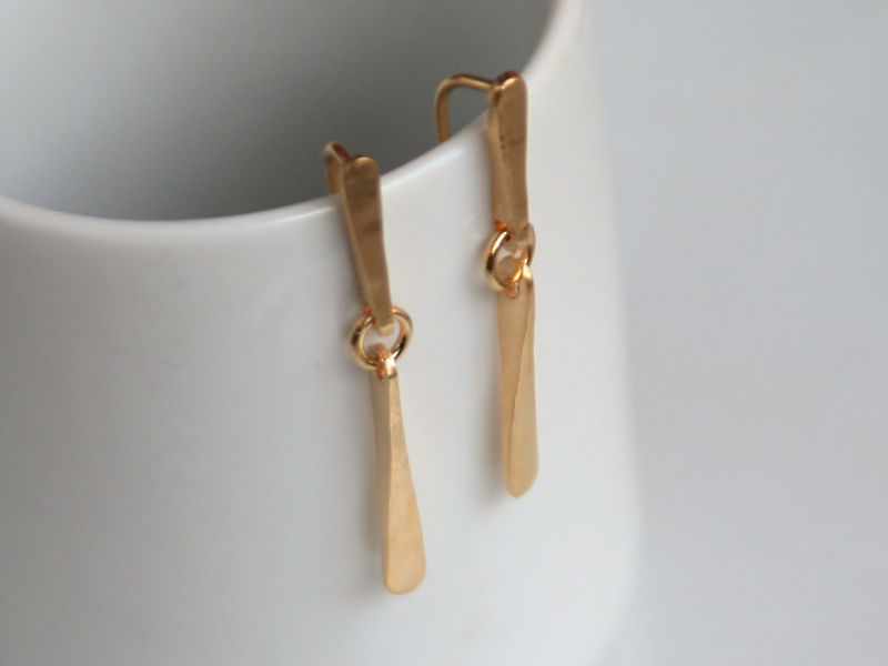 Long 18k gold earrings - product images  of