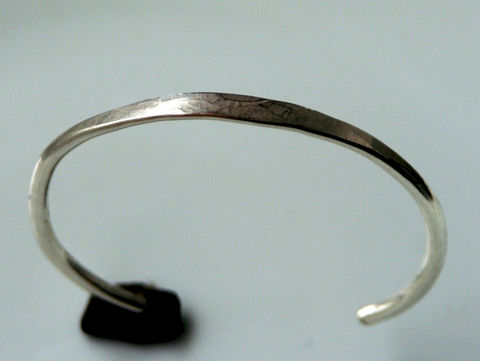 Heavy Forged Silver Cuff Bracelet - product images  of