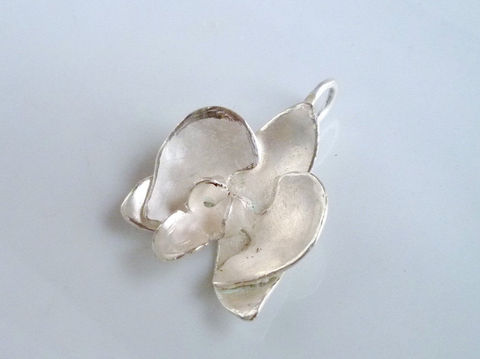 Phalaenopsis Orchid Pendant in Silver - product images  of