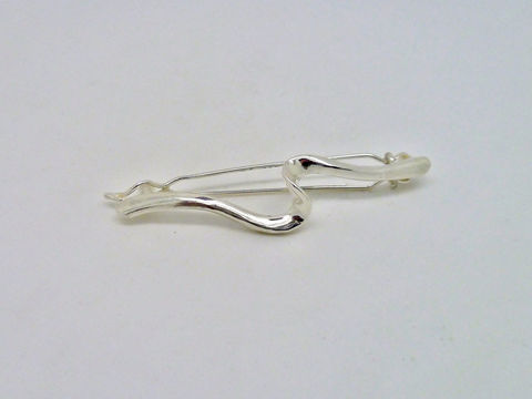 Curves Hair Barrette in Sterling Silver - product images  of