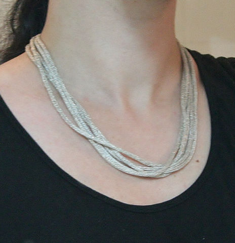 Multiple Strands Double Weave Necklace - product images  of