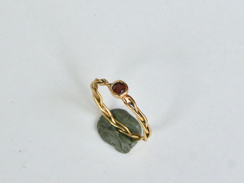 Braided ring with Gemstone - product images  of