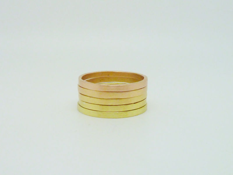 Ombre Ring Set - Green to Rose - product images  of
