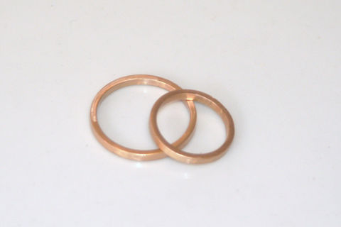 Square Gold Wedding Ring - product images  of
