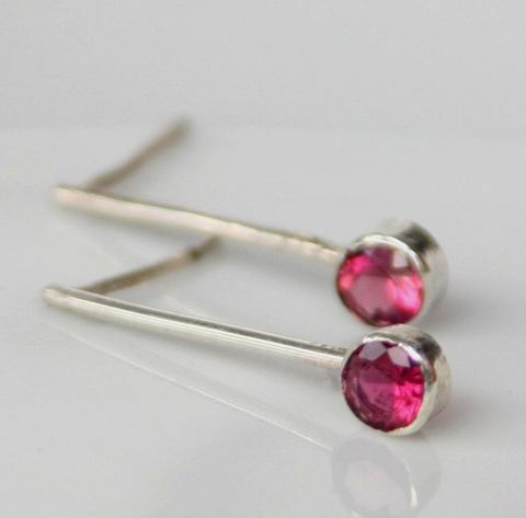 Long Gemstone Earrings - product images  of