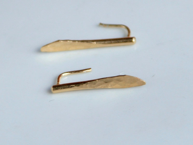 Hammered 22k gold earrings - product images  of