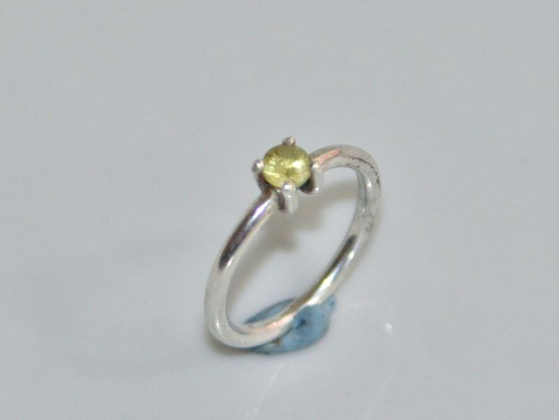 Simple 18k gold ring with Stone - product images  of