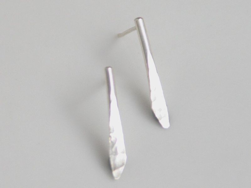 Hammered silver earrings - product images  of