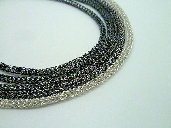 Ombre Multi Strands Woven Necklace - product images  of