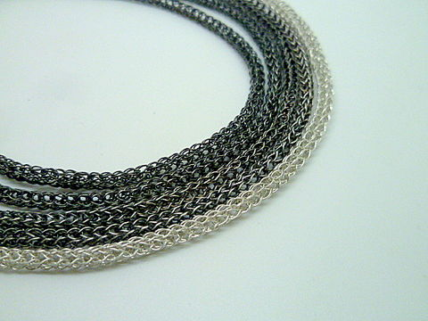 Ombre,Multi,Strands,Woven,Necklace,Jewelry,Metalwork,Contemporary_Jewelry,Beatriz_Fortes,handwoven_chain,silver_necklace,viking_knit,silver_viking_knit,statement_necklace,multistrand_necklace,roman_weave_necklace,sterling_silver,classic_necklace,sterling silver