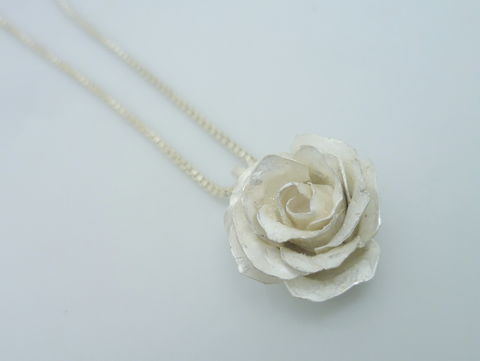 Black or White Rose Pendant - product images  of