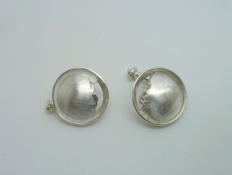 Cracked Sterling Silver Cuff Links - product images  of
