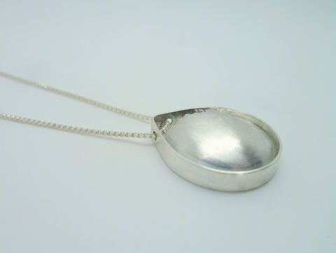 Teardrop Cracked Silver Pendant - product images  of