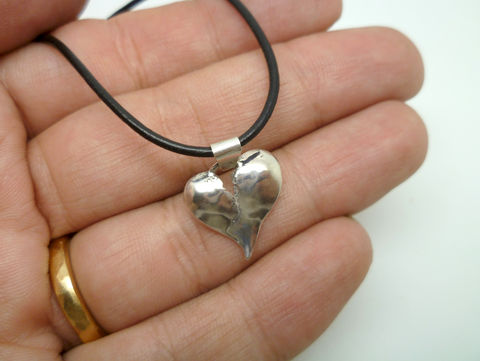 Broken Heart Pendant with Bail - product images  of