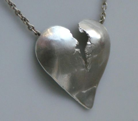 Broken heart pendant with hidden bail contemporary jewelry by broken heart pendant with hidden bail product images of aloadofball Choice Image