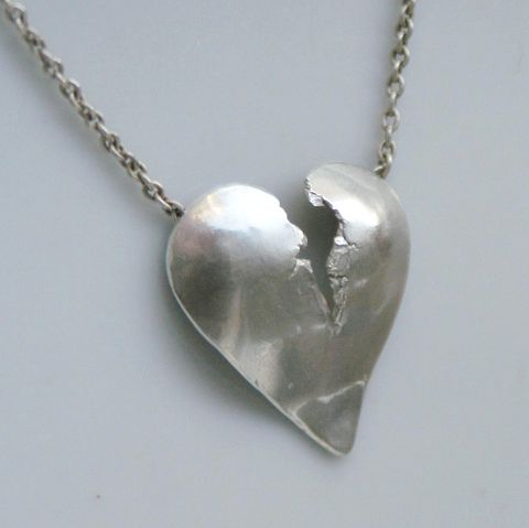 Broken,Heart,Pendant,with,Hidden,Bail
