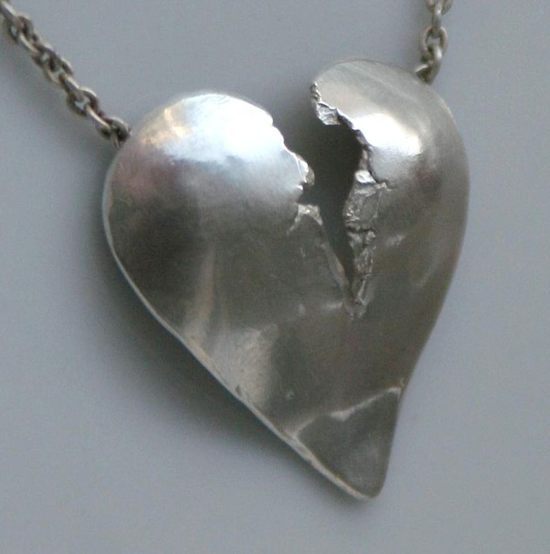 Broken Heart Pendant with Hidden Bail - product images  of