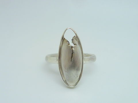 Torn,Ring,in,Sterling,Silver