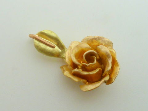 18k Apricot Gold Rose Pendant - product images  of