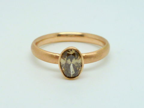 Chocolate Diamond and Rose Gold Ring - product images  of