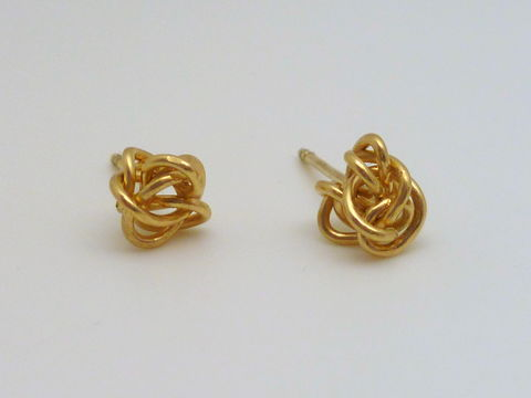 18k,Gold,Knot,Earrings