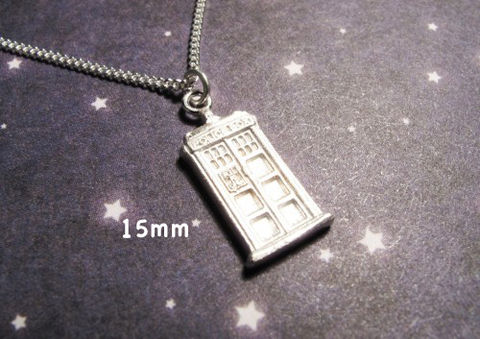 Sterling,Silver,Police,Box,Necklace,inspired,by,Doctor,Who,and,the,TARDIS,doctor who necklace, tardis, sterling silver, fine jewelry, dr who, police box, time travel, whovian, gallifrey, geek chic, unisex, pendant, charm, 925 sterling, call box, blue box, doctor who