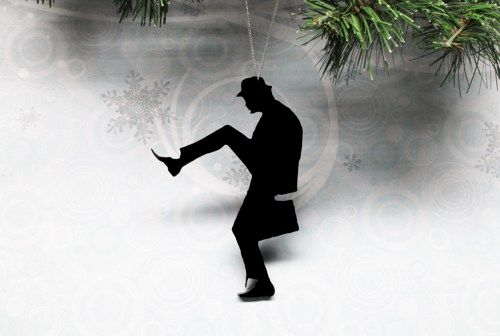 Silhouette Christmas Ornament, inspired by Monty Python Silly Walks - product images