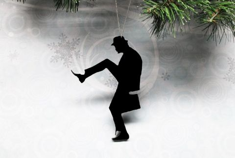 Silhouette,Christmas,Ornament,,inspired,by,Monty,Python,Silly,Walks,silhouette, christmas, ornament, decoration, xmas, monty python, silly walks, ministry of silly walks, john cleese, black, acrylic, lightweight, fun, funny, walking, man, british
