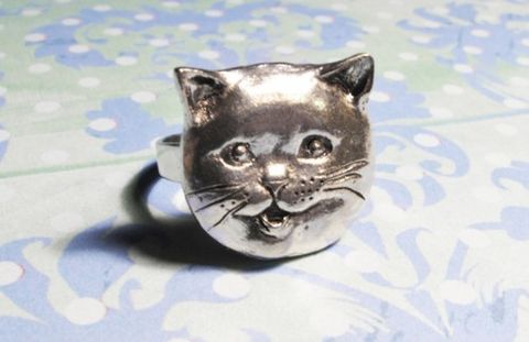 Happy,Cat,Ring,,lolcats,happycat,british,shorthair,cat,lady,cat ring, happy cat, happycat, geek chic, geeky jewelry, cat face, cat head, lolcats, i can has cheesburger, i can has cheezburger, caption cats, cat lover, silver, grey, british blue, british shorthair, fat cat, happicat, lol cats, failblog, c