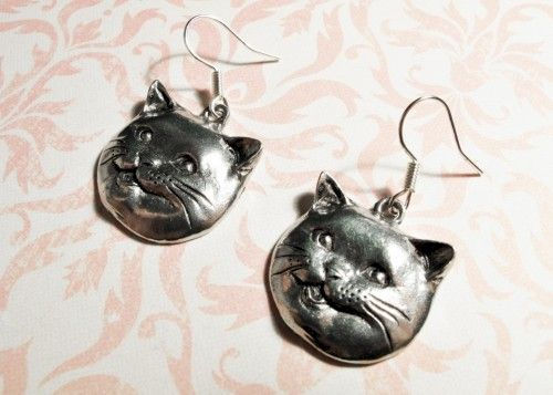 Happy Cat Earrings, lolcats happycat cheezburger cat lady fat cat - product images  of