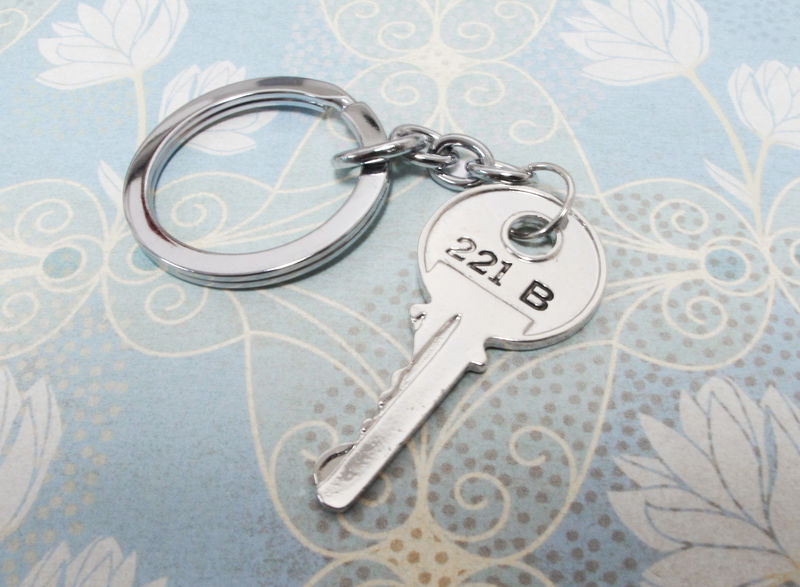 221B Key Keychain, inspired by Sherlock Holmes - product images  of