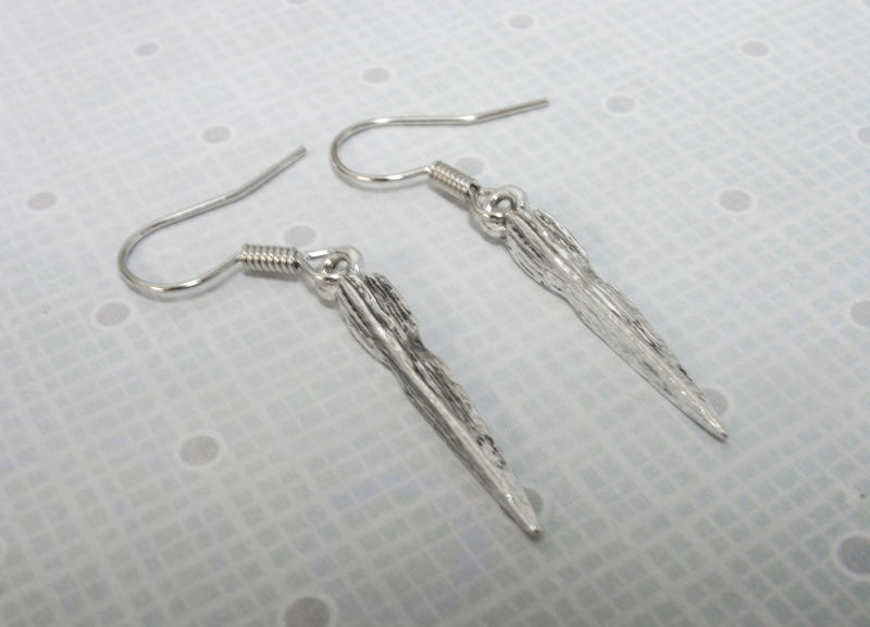 Vampire Stake Earrings, inspired by buffy slayer weapon - product images  of