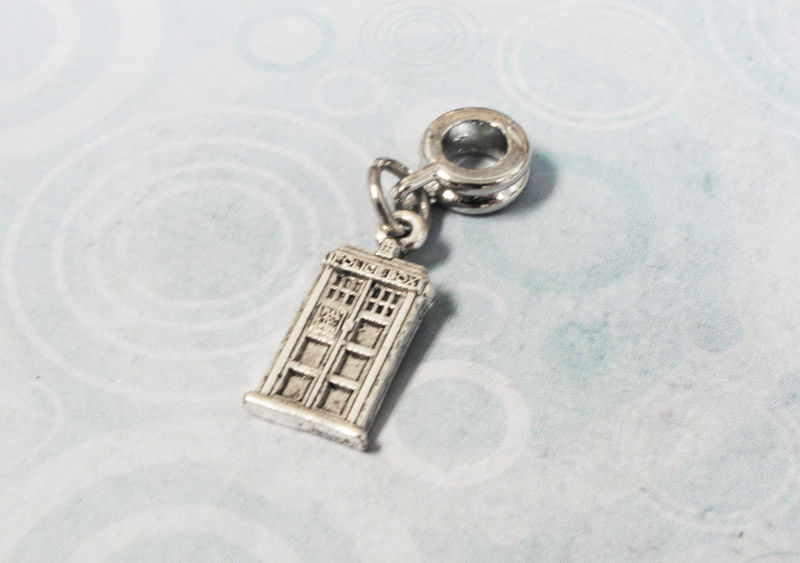 Mini Police Box Charm, for european bracelet, inspired by doctor who - product images  of