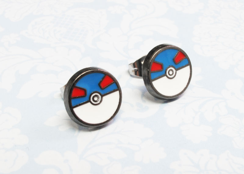 Pokémon Great Ball Stud Earrings - product images  of