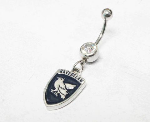 Harry,Potter,Ravenclaw,Belly,Ring,ravenclaw, belly button ring, harry potter, houses, house charm, navel barbell, geek chic, nerdy, serdaigle
