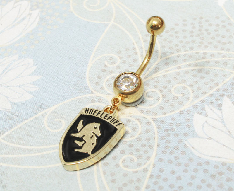 Harry Potter Hufflepuff Belly Ring - product images  of