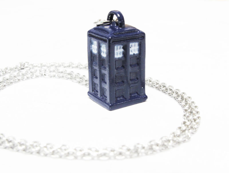 Doctor Who TARDIS Mini 3D Blue Necklace - product images  of