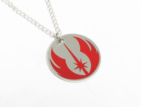 Star,Wars,Jedi,Necklace,star wars, jedi, necklace, pendant, mens, kids, charm, stainless steel, surgical steel, enamel, color