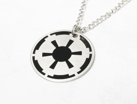 Star,Wars,Empire,Necklace,star wars, empire, imperial, dark side, necklace, pendant, mens, kids, charm, stainless steel, surgical steel, enamel, color