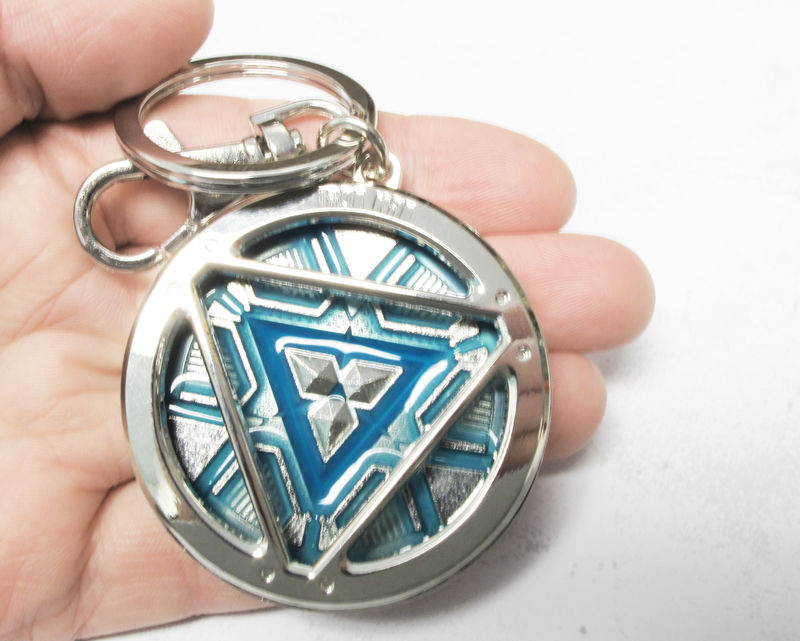 Glow-in-the-dark Arc Reactor Keychain - product images  of