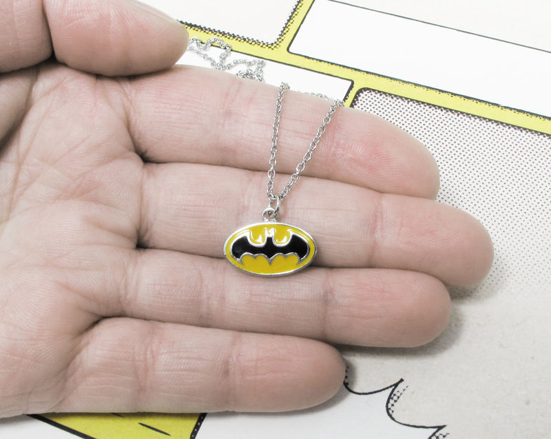 Batman Classic Yellow Logo Necklace - product images  of