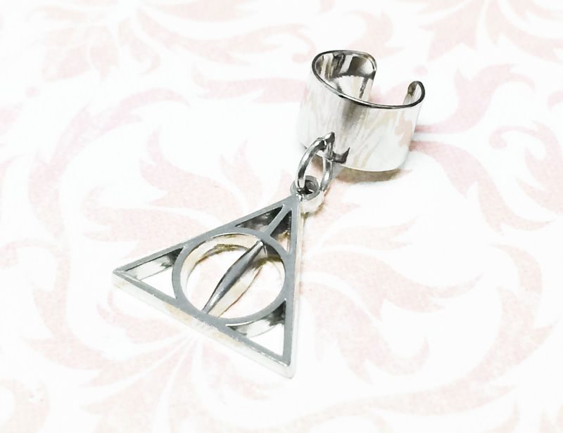 Harry Potter Deathly Hallows Ear Cuff - product images  of